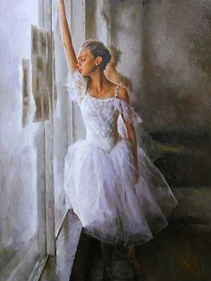 Stephen Pan (Chinese, born 1963) Oil, Portrait of a Ballerina, Signed, 90 x 60