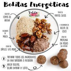 La imagen puede contener: texto y comida Raw Food Recipes, Veggie Recipes, Vegetarian Recipes, Cooking Recipes, Healthy Recipes, Healthy Drinks, Healthy Cooking, Healthy Snacks, Healthy Eating