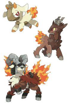Fakemon: Kidling (Fire), Pyroat (Fire/Rock) and Flairees (Fire/Rock). Pokemon Fusion, Pokemon Alola, Pokemon Pokedex, Type Pokemon, Pokemon Comics, Pokemon Fan Art, Pokemon Images, Pokemon Pictures, Evoluções Eevee