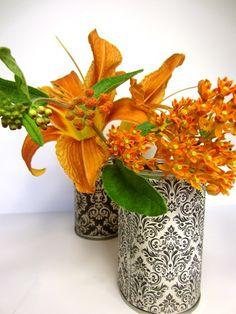 Use tin cans to make decorative vases. Photo Credit: Bonnie Thomas #upcycled