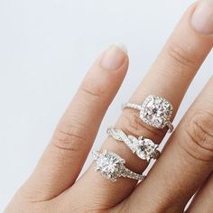 Some of our favorite engagement rings from our Amavida collection.