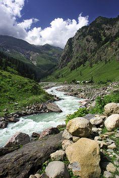 Rushing Stream. Pakistan
