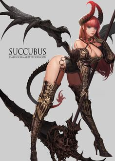 succubus, Daeho Cha on ArtStation at https://www.artstation.com/artwork/ozEn4