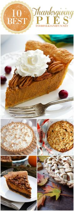 10 Best Thanksgiving Pie Recipes: This roundup has the best classic recipes plus some new and improved ones, too!   Thanksgiving Recipes   Fall Recipes