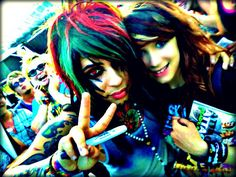 Dahvie Vanity from Blood on the Dance Floor. :b  Yes, I realize I look like shit.  (Warped Tour '11)