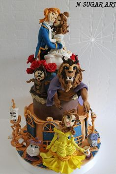 Beauty and the beast - Cake by N SUGAR ART