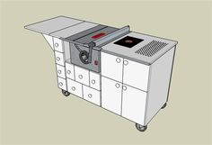 Table Saw Mobile Workstation #1: I love it when a plan comes together... - by Greg Wurst @ LumberJocks.com ~ woodworking community