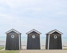 Beach Cabins Photography Normandy, France 8x10
