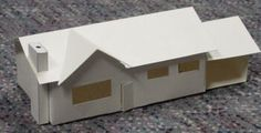 paper house models with patterns