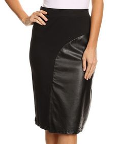 Accentuate your figure with this fitted skirt boasting a curve-kissing, a-line silhouette and patent panel that offers a rich shine. Size S/M: cotton / polyesterMachine wash; Black A Line Skirt, That Look, Take That, Fitted Skirt, Strap Heels, A Line Skirts, My Style, Products, Fashion