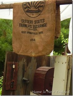 The day of the Antiques & Primitives Goods Show was picture perfect, warm, blue skies, low humidity, what more could one ask for? Low Humidity, Antique Show, Feed Sacks, Paper Shopping Bag, Homesteading, New England, Farmer, Primitive, Front Porches