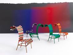 The Shadowy Chair Brings Curls, Color and Curiosity to Your Deck #backyard trendhunter.com