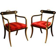 A Pair of Regency Armchairs @shoprubylux #ClintonHowellAntiques #Regency