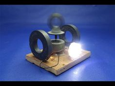 bc5080ab765 How to make free energy light bulbs generator with magnets   DC motor -  experiment at home