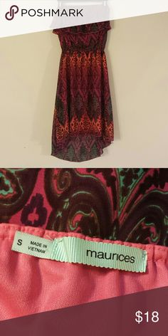 Aztec tube too dress Lightly worn, flowy Maurices Dresses