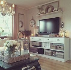 TV stand & living room shelving