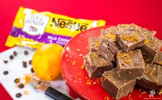 Chocolate Orange Fudge Recipe with Pecans - a modern twist on classic Fantasy Fudge, using NESTLÉ® CARNATION® Evaporated Milk Orange Fudge Recipes, Pecan Recipes, Classic Fudge Recipe, Fantasy Fudge, Orange Twist, Ice Cream Candy, Chocolate Morsels, Marshmallow Creme, Little Brown