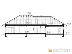 gotowy projekt Dom w alwach 4 przekroj budynku Bungalow, Floor Plans, House, Floor Plan Drawing, House Floor Plans, Craftsman Bungalows, Bungalows