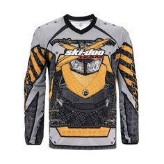 Ski Doo Mens Full Throttle Jersey Yellow 2013 453580 Ecklund Motorsports $30.99