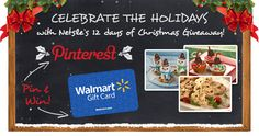 Repin To Win a Walmart Gift Card - I won a gift card to Walmart in December 2012!