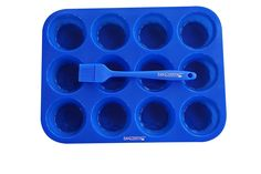 Bakessentials Bakeware Silicone Set, Regular Muffin/Cupcake 12 Cup Baking Pan, Pastry/Basting Brush, Erecipes, Blue ^^ Want to know more, visit : Baking pans