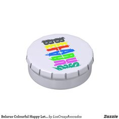 Belarus Colourful Happy Letters Candy Tin