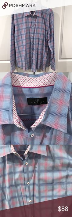 🚀 Bugatchi Uomo Extra Large Button Down Shirt Bugatchi Uomo Extra Large Button Down Shirt. This shirt has been worn very few times and is in excellent condition. There is a pocket on the left chest (pictured). Please ask if you have any questions and bundle for a better deal! Thank you 🚀 Bugatchi Shirts Casual Button Down Shirts