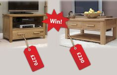 Win a Gorgeous Oak Table & TV Cabinet Set (Worth £500)  #MyFamilyDeservesAGift #MyFamilyDeservesAGift