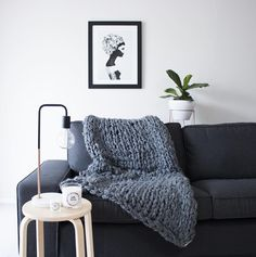How gorgeous is our new 'Chunky Knit' in Charcoal  These throws have been handmade by designer Raquel Wys and her artisan team Mum and Sister
