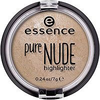 This Essence Pure Nude Highlighter adds natural luminescence to cheeks, temples, and brow bone for a gorgeous glow. The baked formula applies smoothly while the light texture blends easily for a natural finish. Not tested on animals. Best Drug Store Highlighter, Drugstore Highlighter, Concealer, Highlighters, Baked Highlighter, Best Cheap Highlighter, Bronzer, Makeup Products, Makeup Ideas