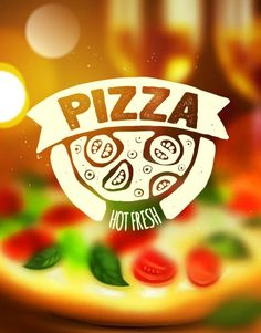 Find Pizza Label On Blurred Background stock images in HD and millions of other royalty-free stock photos, illustrations and vectors in the Shutterstock collection. Pizza Logo, Pizza Branding, Food Graphic Design, Design Café, Logo Design, Pizza Restaurant, Logo Restaurant, Pizza Background, Blurred Background