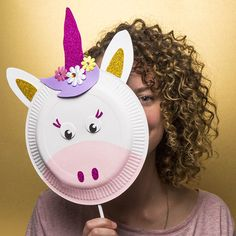 Paper Plate Unicorn Puppet Mask Glued To My Crafts Gluedtomycrafts Pinterest Crafts For