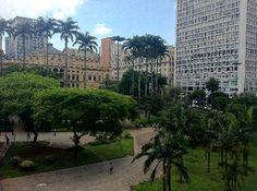 Vale do Anhangabau with the Municipal Theater- Sao Paulo