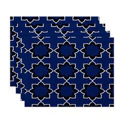 E by Design 18 x 14-inch Bohemian Print Placemat