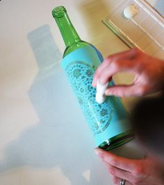 Martha Stewart Glass Etching Tutorial