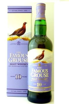 The Famous Grouse 10 Year Old Blended Malt Scotch Whisky, Scotland label