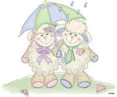 LOVEABLE LAMBS - Miriam Sosa - Picasa Web Albums Cute Images, Cute Pictures, Happy Images, Easter Drawings, Easter Illustration, Sheep Crafts, Blue Nose Friends, Cute Sheep, Sheep And Lamb