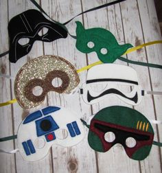 Star Wars Mask Darth Yoda C3PO Storm Trooper R2D2 by OhanaApplique