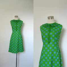 1960s Dress / 60s Polka Dotted Shift Dress / by lapoubellevintage, $54.00