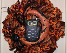 Halloween Wreath with a Super Cute Owl