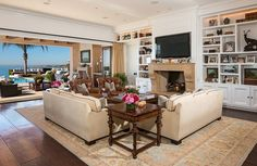 With sliding glass doors, the den makes the most of the ocean views.   Source: Chris Cortazzo