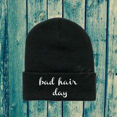 Bad Hair Day Black Beanie