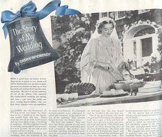 "article about her wedding written by Tasha Tudor, 1938 for Companion magazine. Published under married name ""Tasha McCready."""