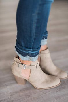 77ab06227be Ingrid Cut Out Booties Fall Booties