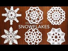 how to cut snowflakes {video tutorial + free templates} - It's Always Autumn