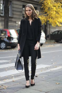 all black everythang. #VanjaMilicevic in Belgrade. #fashionandstylev