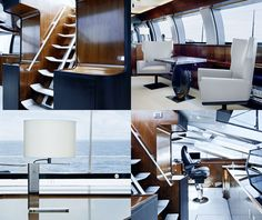 Christian Liaigre interior in the luxury yacht Vertigo is a marriage of cutting edge design and flawless execution, built by Alloy Yachts and designed by Phillipe Briand & Christian Liaigre