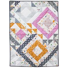 Triangle Jitters Quilt. Pattern download - http://suzyquilts.com/shop/triangle-jitters-quilt-pattern-download/
