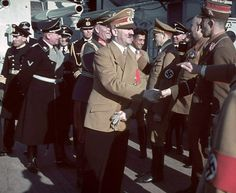 Adolf Hitler with other Nazi officials