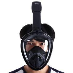 d0b4f87adb2 Diving Mask Full Face Anti Fog Underwater Snorkeling with Earplugs